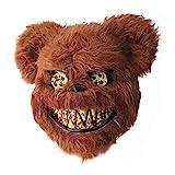 RunkeU Halloween Teddy Bear Maske Halloween Ghost Festival Maske -...