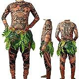 Herren Moana Maui Tattoo T Shirt / Hosen mit Bl?ttern Rock Halloween...