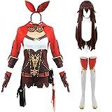 Genshin Impact Cosplay Kostüm mit Perücke Zhongli Xiao Albedo...
