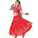 Magogo Mädchen Bauchtanz Kleid Bollywood Indian Folk Kids Arabian...