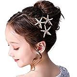 3 Stück Seestern Haarspangen Mädchen Blumenmädchen-Zubehör für...