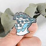 XIAODAN Two-Face Emaille Pin Blaue Girlande Frau Skulptur Abzeichen...
