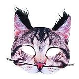 Rappa 160095 Lebensechte Tiermaske Katzenmaske Karnevalsmaske Katze