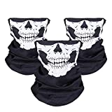 JTDEAL [3 Stück] Motorrad Totenkopf Maske, Sturmmaske, Skull Skelett...