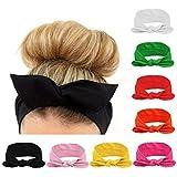 8 stk mehrfarbig Kopfband haarband Fliege Schleife für Damen Niedlich...