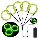 SZILBZ 5 x 1m Lichtschnur Leuchtschnur, EL Wire neon kabel Lichtband...