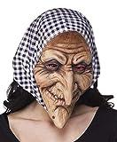 Boland 97508 - Latex Gesichtsmaske Hexe mit Kapuze, Einheitsgröße,...