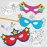 "Baker Ross Masken ""Superhelden"" zum Ausmalen (6 Stück) - für..."