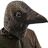 PartyCostume Krähe Maske Vogel Schwarz Tier Latex Vollkopf...