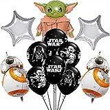 Packung 17 Ballons Star Wars ZSWQ-Star War Latex Ballons mit Bändern...