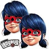 6 Masken * Ladybug * als Verkleidung und Mitgebsel für Mottoparty und...