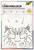folia 23209 - Kindermasken Tiere aus Pappe, Motive sortiert, 6 Stück,...