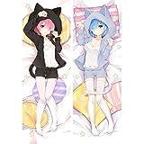 Promini Anime Re Zero Starting Life In Another Rem Ram Cat Dakimakura...
