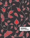 Notebook - Secret Garden (8x10 Notizbuch) (Black Red)