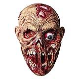 molezu Walking Dead Vollkopfmaske, Rubber Latex Maske für Halloween...