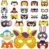 vamei 24 Stück Masken Filz Kinder Party Masken Tiermasken Filz Masken...
