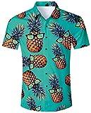 ALISISTER Herren Hawaiihemd Drucken Kurzarm Ananas Hemd Tropical...
