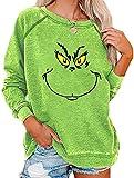 Bprtcra Weihnachten Grinches Sweatshirt, Kreativer Weihnachts Pullover...