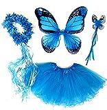 Tante Tina Schmetterling Kostüm Mädchen - 4-teiliges Mädchen...