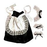 Widmann 6665C - Kostümset Hausmädchen, Kopfbedeckung, Halsband,...