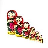 Heka Naturals Russische Matroschka-Puppen, 7 traditionelle Matroschkas...