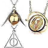 U&X Wizard Herry Potter zeitumkehrer Sand Sanduhr Halskette Goldener...