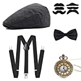 Wagoog 1920s Gatsby Herren Accessoires, 20er Jahre Herren Mafia...