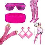 LAMEK 5 Stück 80er Jahre Kleidung Neon Party Outfit 1980s Damen...