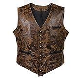 Bslingerie® Herren Steampunk Gothic Faux Leather Kostüm Korsett...