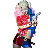 DreamJ Quinn Cosplay Kostüme für Erwachsene, Mädchen Bösewicht...