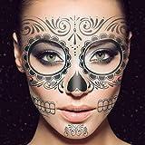 Frcolor 2Pcs temporäre Skelett Tattoos Tag der Toten liefert...