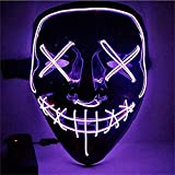 Sinwind LED Purge Maske, The Purge Maske, Halloween Maske LED, LED...
