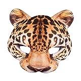 Boland 56731 - Halbmaske Leopard, one size, realistischer Druck auf...