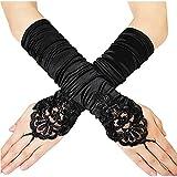 Jurxy 1920er Stil Handschuhe Elastisch Audrey Hepburn Handschuhe mit...
