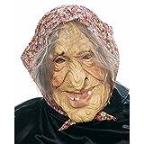 NET TOYS Halloweenmaske Horrormaske Hexen Maske Oma Masken Alte Dame...