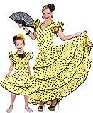Flamenco Kleid zum Samba Kostüm für Mädchen Gr. 116 - Spanierin...