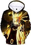 PANOZON Herren 3D Druck Naruto Manga Anime Kapuzenpullover Outwear...
