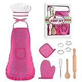 KITY Mädchen Geschenk 3-8 Jahre, Koch Kostüm Set für Kinder...