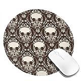 Maske Skelett Mauspad Runde Gaming Mousepad Personalisierte Kunstdruck...