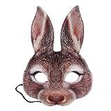 Amosfun Kaninchen Halbe Gesichtsmaske Hasen Ohr Maske für Ostern...