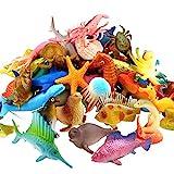 Meerestiere Spielzeug, 52 Stück Ausgewählte Mini Vinyl Plastik Tiere...
