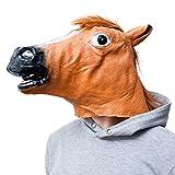 GOODS+GADGETS Pferdemaske für Karneval & Halloween Pferde Kostüm...