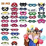Hossom Superhelden Masken, Filz Masken, Filz Superhero Cosplay Party...
