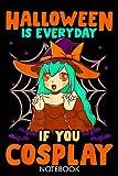 Halloween Cute Chibi Anime Witch Cosplay Manga Character Gif: Lined...