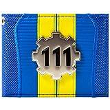 Fallout 4 Vault 111 Silber Metal Zahn Blau Portemonnaie Geldbörse