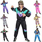 Foxxeo 80er Jahre Kostüm für Erwachsene Premium 80s Trainingsanzug...