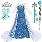 BanKids Mädchen Kostüm ELSA Kleid Kinder Prinzessin Kleid Cosplay...
