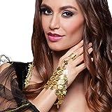 1001 Nacht Schmuck Armreif - gold - Orientalische Handkette mit Ring...