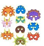30 Stück Dinosaurier Party Masken für Kinder mit Elastischen...