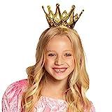 Boland 61591 - Krone Amy, 1 Stück, Größe ca. 9 cm, Gold mit...